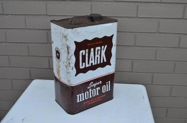 Clark Oil can. 2 gallon 1950's - 60's - $55