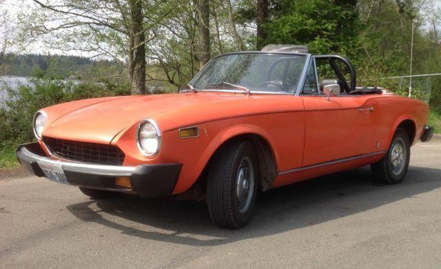 Classic 1977 Fiat 124 Convertible Touring Sports Car