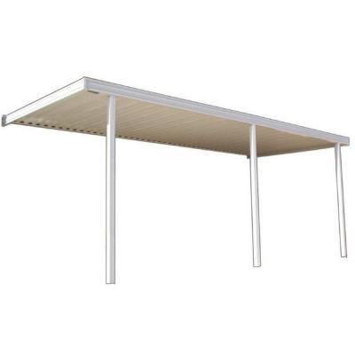 Classic 20 ft. x 12 ft. Aluminum Attached Solid Patio
