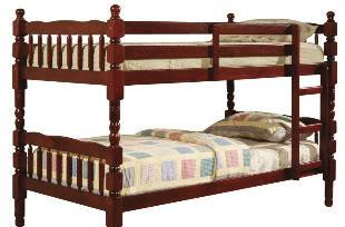 Classic Cherry Bunk Bed-Solid Wood - $195 (Seacoast