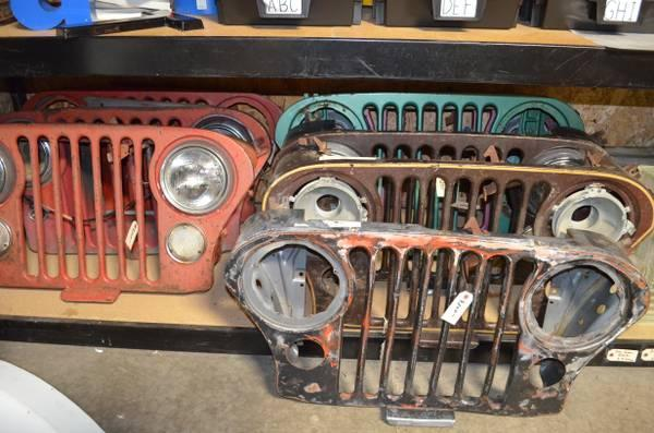 Man Cave Posters For Sale : Classic jeep slot grills great industrial art for that