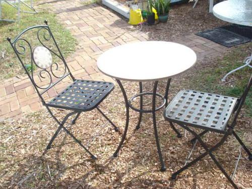 Classic Vintage Aluminun And Cast Iron Chair And Loveseat For Sale In Orlando Florida