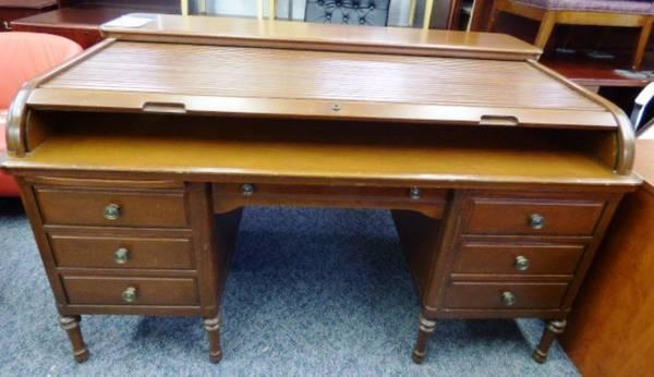 Classic Vintage Wood ROLL TOP DESK - $1499