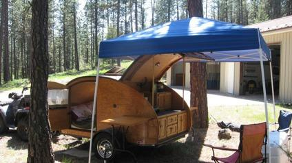 """Classic """"Woody"""" Teardrop Trailer for Sale in Spokane ..."""