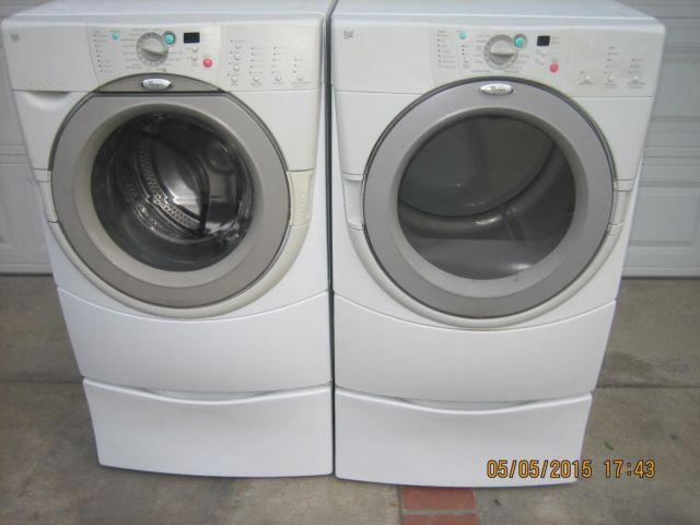 clean whirlpool duet frontload washer gas dryer set