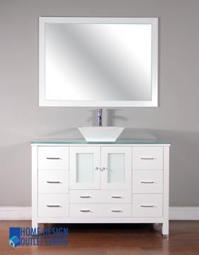 "CLEARANCE 48"" ALYA white modern bathroom vanity for Sale ..."
