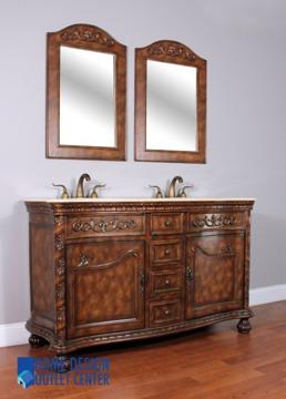 wood bathroom vanity with marble top for sale in Secaucus, New Jersey