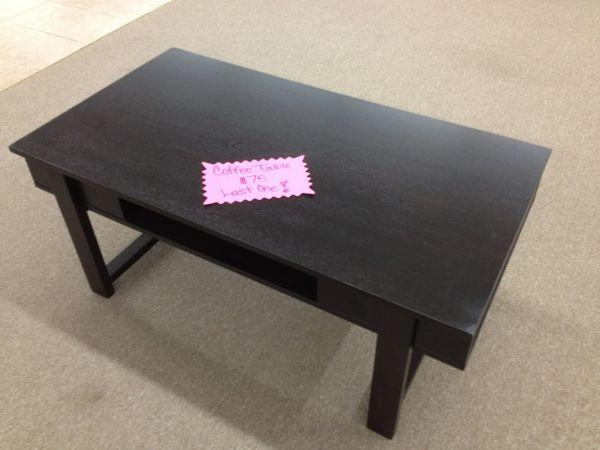 Clearance Black Coffee Table Princeton Indiana Furniture Outlet For Sale In Evansville