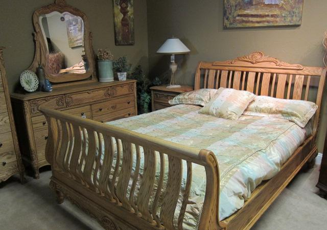 Clearance Real Solid Oak Bedroom Set Heirloom Quality LIFESTYLE - Lifestyle furniture bedroom sets