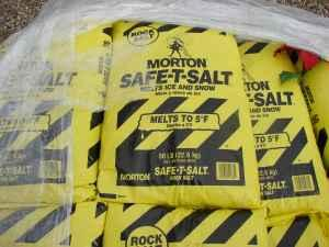 Clearancing Morton Rock Salt - Ice Patrol 50lb bags -