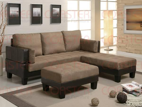 Click/clack futon sofa bed, with 2 ottomans - for Sale in Oxnard ...