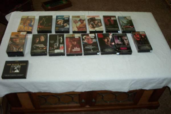 Clint Eastwood VHS movies - 15 total - for Sale in West