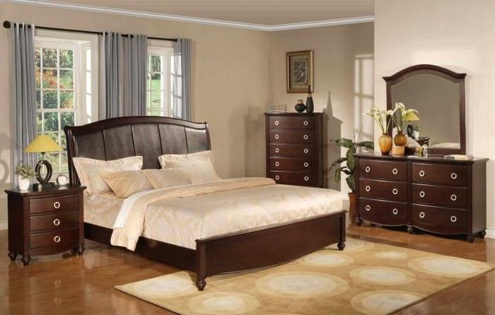 CLOSEOUT!!! Beautiful Contemporary Cherry Bedroom Set ...