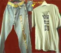Clothes, Jeans, (Original Art Work), and free, t-shirt
