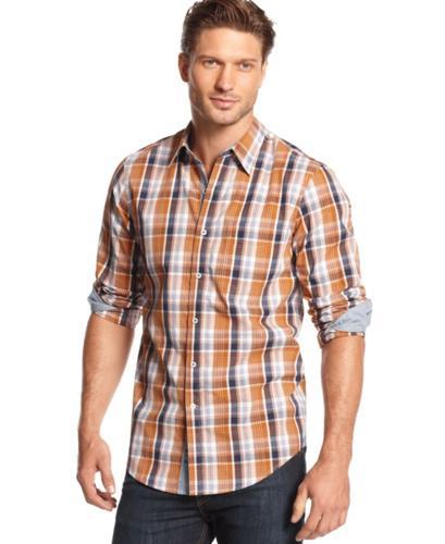 Club room big and tall shirt long sleeve assorted plaid for Big n tall shirts