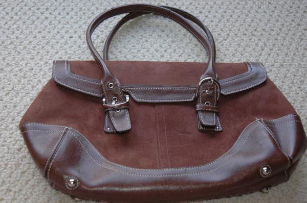 Coach Brown Suede and leather Purse - $40 Ellicott City