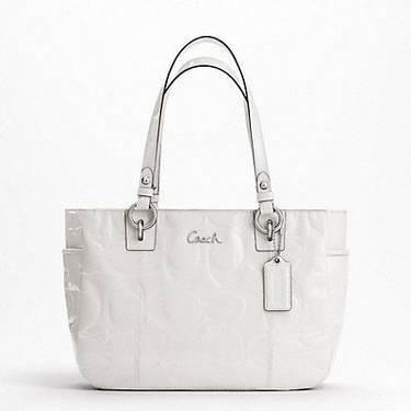 Coach Pink Gallery Embossed Patent Tote New with Tags