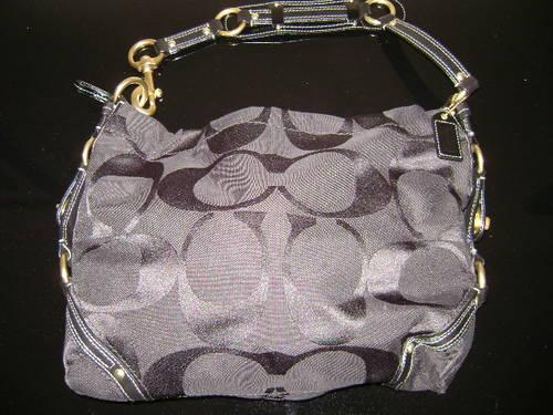 5887a4ef319b Coach Signature C s Large Carly Hobo Purse Black for sale in Winnabow