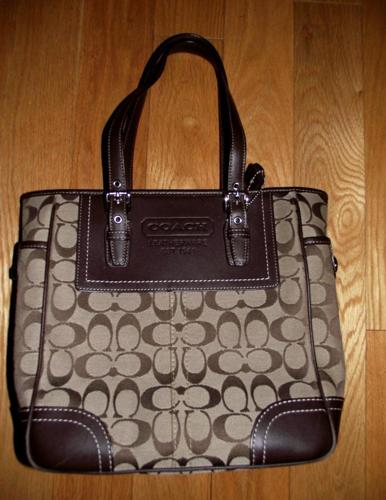 Coach Signature Tote Bag - Brown - $75 Hopedale
