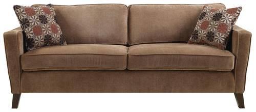Coaster Contemporary Track Arm Sofa W Accent Pillow Love