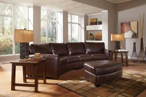 Coaster Cornell Bonded Leather Curved Sofa Sectional For