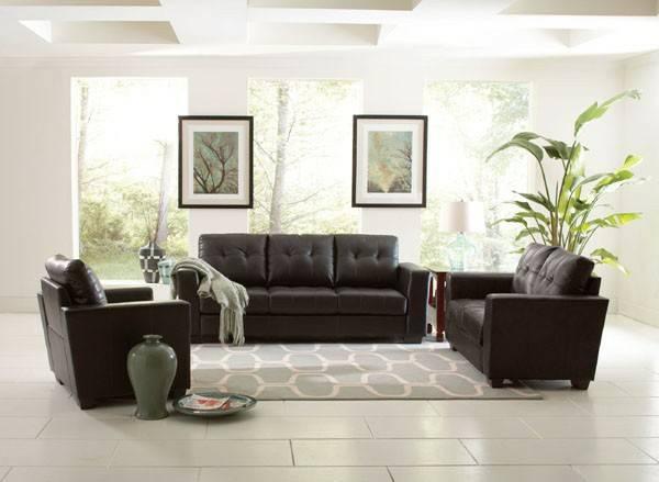 Coaster furniture503701 2 902062 black sofa loveseat for Furniture chico ca