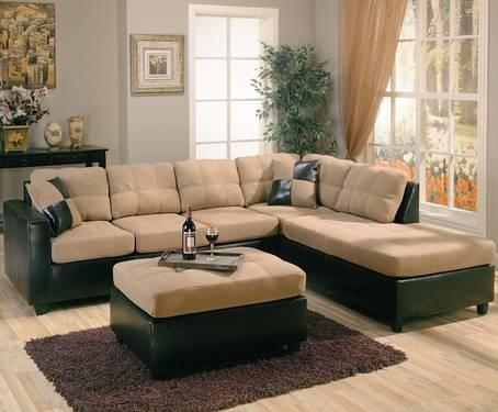 COASTER HARLOW CONTEMPORARY TWO TONE SECTIONAL SOFA AT ROOMS ...