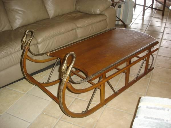 Coaster sled coffee table for sale in winter haven for Sled coffee table
