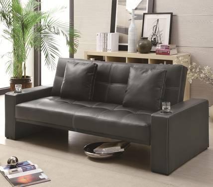 Coaster Sofa Bed Futon Styled Sleeper Casual