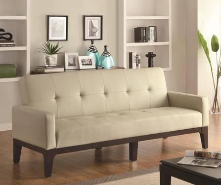 COASTER SOFA BEDS TUFTED SOFA BED WITH TRACK ARMS AT