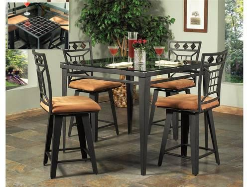 COBALT Cappuccino Kitchen Dining PUB Table W 4 Chairs 42 Square NEW For