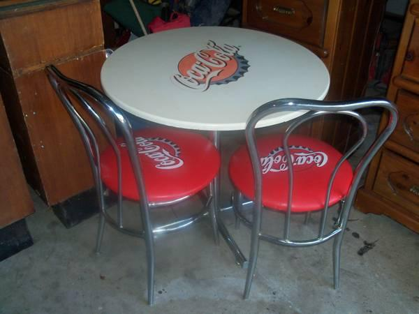 Coca cola table 2 chairs for sale in bonanza texas classified - Coca cola table and chairs set ...