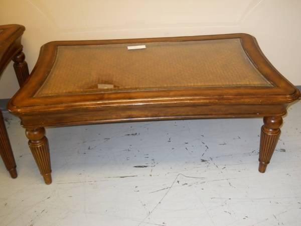 Coffee Table And End Table W Glass Top Insert For Sale In Pensacola Florida Classified