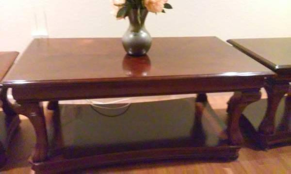 Coffee Table and matching end tables - $200