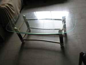Coffee Table/Center Table Glass Top (Oval Shape) - $20