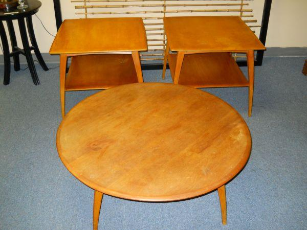 Coffee Table W 2 End Tables Made By Heywood Wakefield