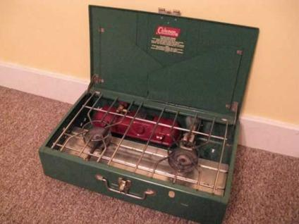 Coleman #413G 2 burner camping Stove  Fabulous condition  (Murray