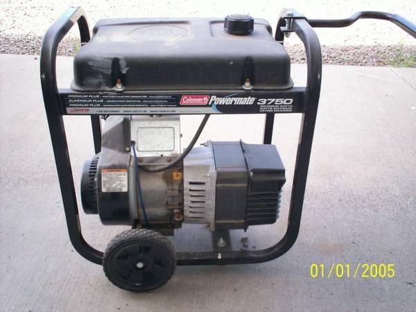 Coleman Powermate 3750 generator - $275