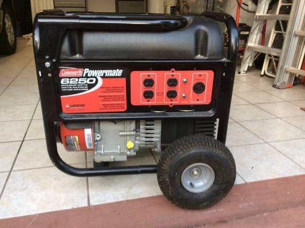 Coleman POWERMATE generator 6250 - $450
