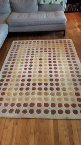 Colorful Area Rug Mid Century Modern Style For Sale In Long Beach