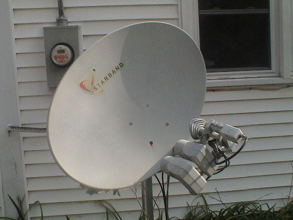 Combination dish for Dishnetwork TV and Starband