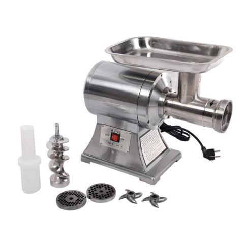 Commercial Stainless Steel 1HP Electric Meat Sauage Grinder