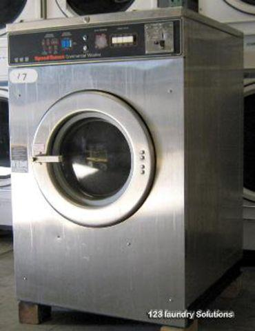 Commercial Washer Speed Queen Triple Front Load Washer OPL Push To Sta