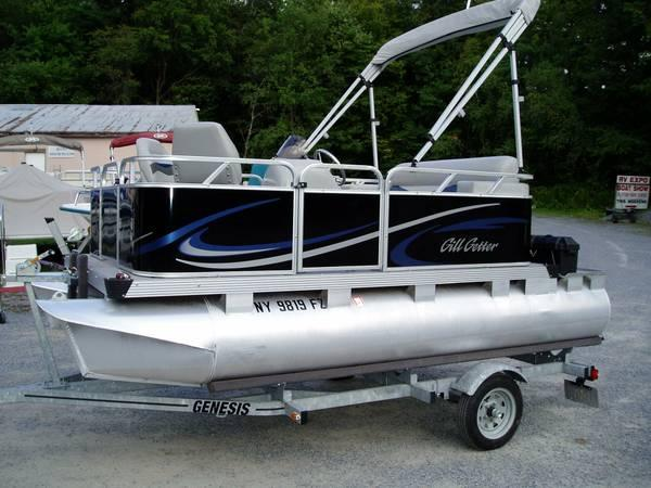 Compact electric pontoon boat for sale in rexford new for Small used fishing boats for sale