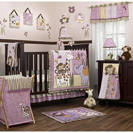 complete cocalo jacana jungle monkey baby girl bedroom set for sale
