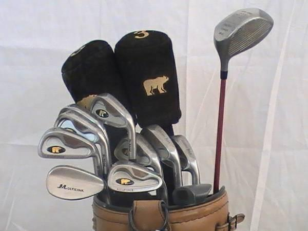 Complete Mens Golden Bear Golf Club Set All Graphite Bag