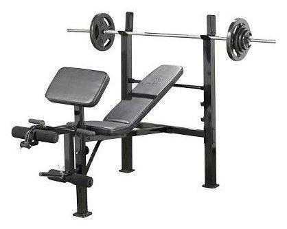 Complete Weight Lifting Set- Bench, Weights and