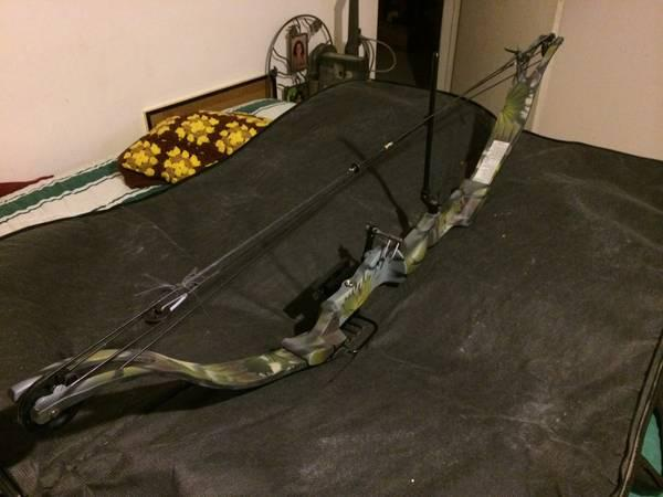 Compound bow with carring case - $120