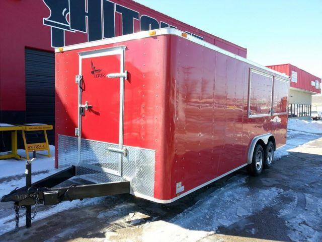 Concession 8 5 X 20 Lark Enclosed Trailer Mag Wheels