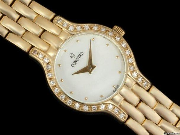 Concord LES PALAIS LADIES WATCH - 14K GOLD, MOP &